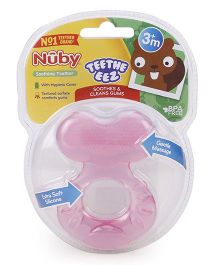 Nuby Soothing Teether With Case - Pink