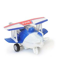 Flyers Bay Die Cast Biplane Pull Back Toy - Blue