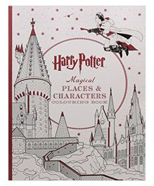 Harry Potter Magical Places & Characters Coloring Book - English