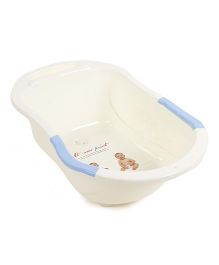 Baby Bath Tub Printed - Cream Blue