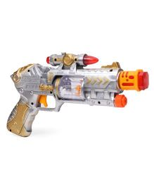 Playmate Projection Music Strike Electric Gun - Silver And Gold