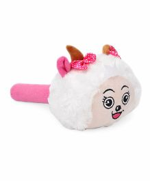 Musical Hammer Soft Toy Pink White - Length 24.5 cm