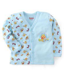Bodycare Full Sleeves Vest Winnie The Pooh Print - Light Blue
