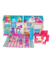 Musical Dream Doll House With Doll Multicolour - 30 Pieces