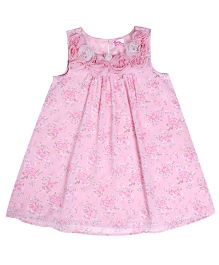Teeny Tantrums Floral Print Dress - Pink