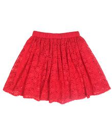 Teeny Tantrums Lace Skirt - Red