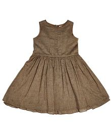 Teeny Tantrums Flared Dress - Brown