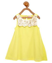 Teeny Tantrums Shift Dress With Rosette - Yellow