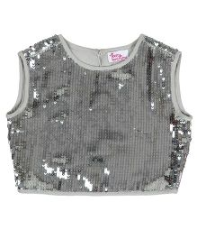 Teeny Tantrums Sequined Top - Silver
