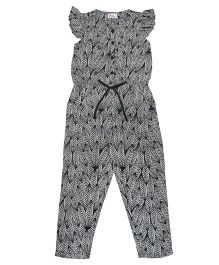 Teeny Tantrums Tribal Leaves Jumpsuit - Black
