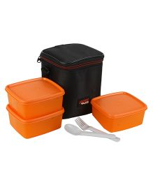 Jaypee Wonder Bag Lunch Box Container Set Of 3 With Carry Case Orange - 1800 ml