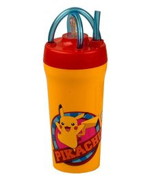 Jaypee Tumbler With Straw Pokemon Print Yellow - 300 ml