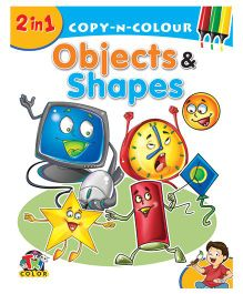 2 In 1 Copy N Colour Objects & Shapes - English