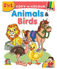 2 In 1 Copy N Colour Animals & Birds - English