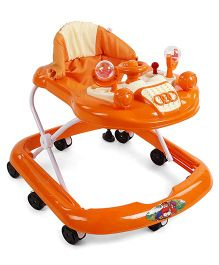 Musical Baby Walker With Play Tray - Orange
