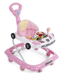 Musical Baby Walker Vehicle Design - Pink & Cream