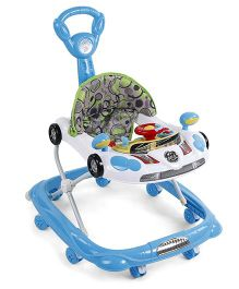 Musical Baby Walker Vehicle Design - Blue & White