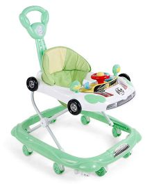 Musical Baby Walker Vehicle Design - Green & White