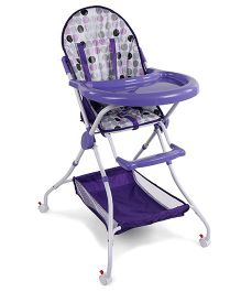 High Chair With Storage Basket - Purple