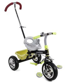 Baby Tricycle With Push Handle - Green & Black