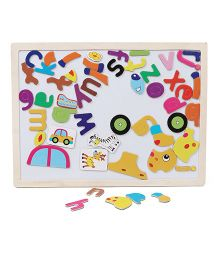 Smiles Creation Puzzle Cum Writing Board - Multicolor