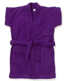 Pebbles Half Sleeves Bathrobe - Purple