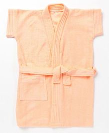 Pebbles Half Sleeves Bathrobe - Peach