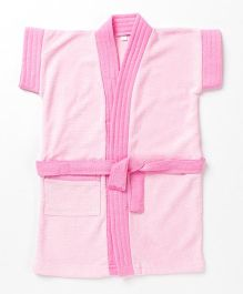 Pebbles Half Sleeves Bathrobe - Baby Pink