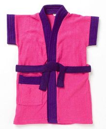 Pebbles Baby Bathrobe - Pink & Purple