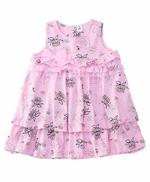 ToffyHouse Sleeveless Frock Bow Applique - Pink