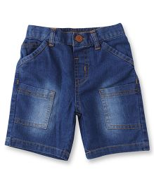 ToffyHouse Elasticated Denim Shorts With 6 Pockets - Medium Blue