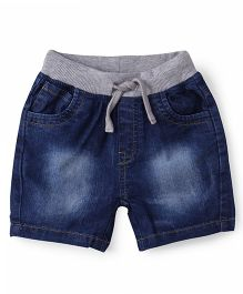ToffyHouse Elasticated Shorts With Drawstrings - Dark Blue