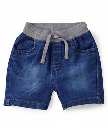 ToffyHouse Elasticated Shorts With Drawstrings - Medium Blue