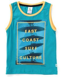 Cucumber Sleeveless T-Shirt East Coast Print - Green