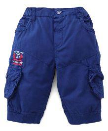 Olio Kids Three Fourth Pant - Blue