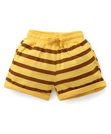 Olio Kids Stripes Shorts - Yellow Brown