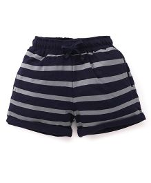 Olio Kids Stripes Shorts - Navy Grey