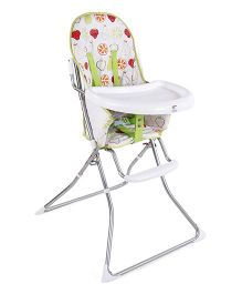Baby High Chair Fruit Print - White & Green