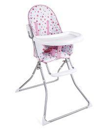 Baby High Chair Dot Print - White & Pink