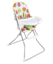 Baby Printed High Chair - White & Green