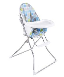 Baby Printed High Chair - Grey & White