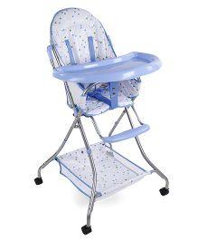 Dotted High Chair - White Blue