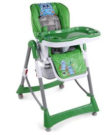 Baby High Chair With Wheels - Green