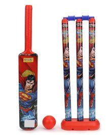 DC Comics Superman Plastic Cricket Set - Red