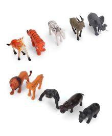 Playmate Wild Animal Set Of 10 - Multi Color