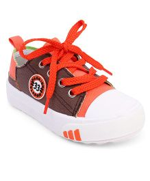 Cute Walk by Babyhug Canvas Shoes - Brown Orange