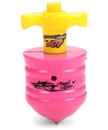 Classic Battery Operated Laser Top Small - Pink & Yellow