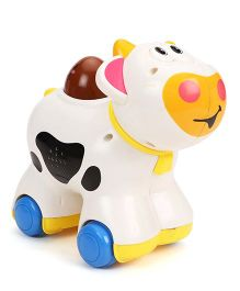 Musical Cow Toy - White