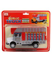 Centy Pull Back Public Toy Truck - Red White