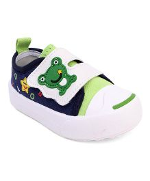 Cute Walk by Babyhug Canvas Shoes - Green Blue